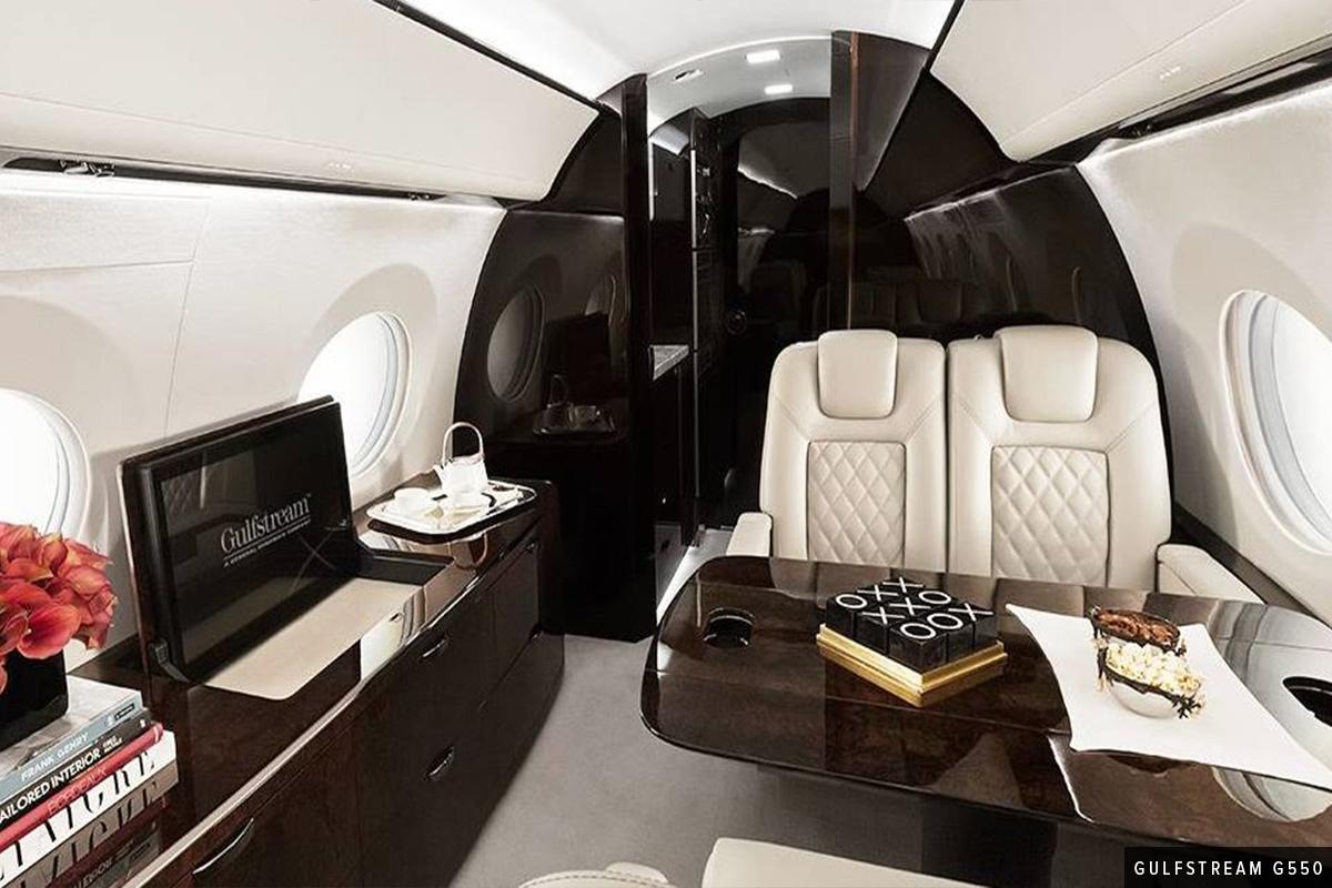 Large Heavy Cabin Gulfstream G550 Interior