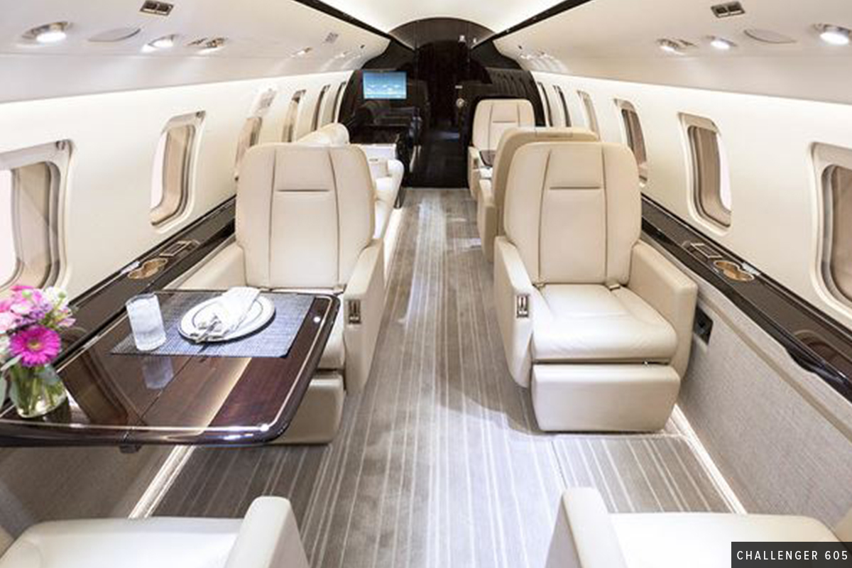 Beautiful Heavy Cabin Challenger 605 Interior