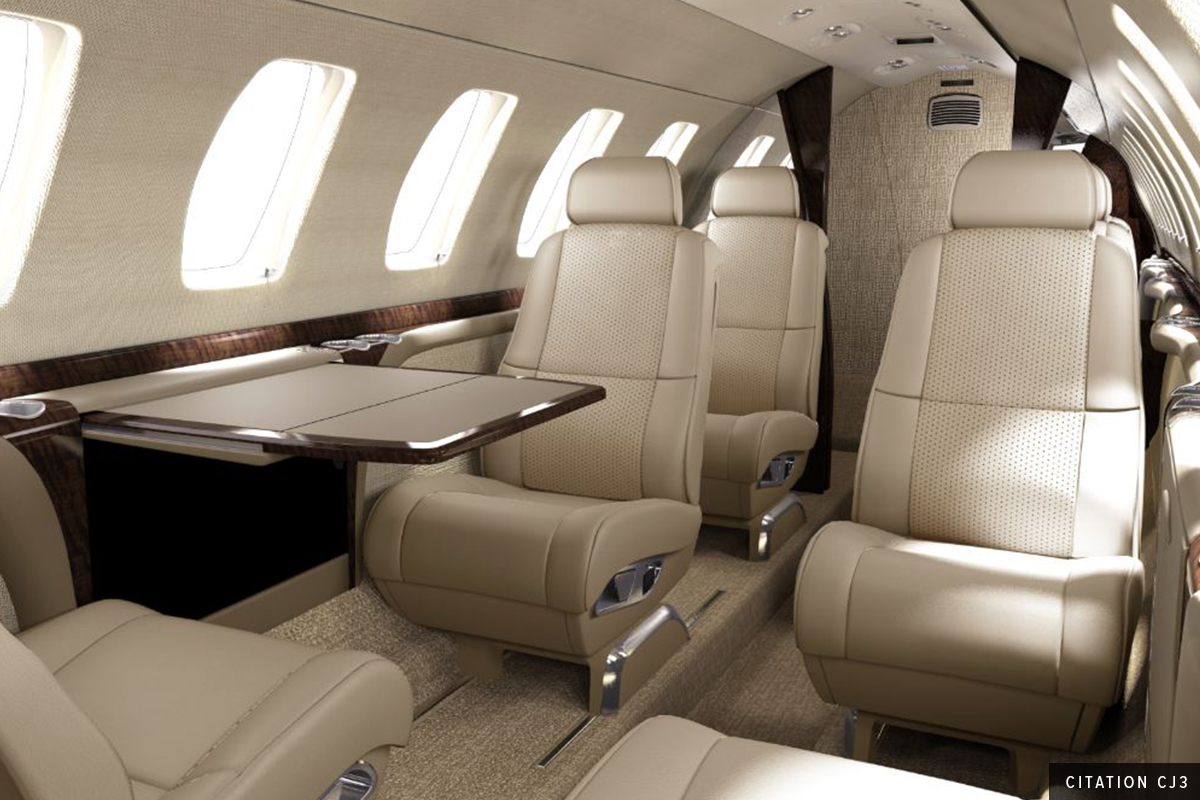 Light Jet Citation CJ3 Interior