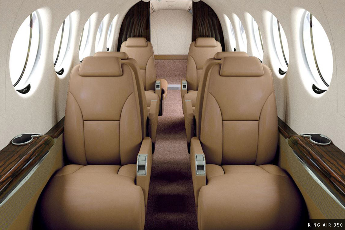 Turboprop King Air 350 Interior