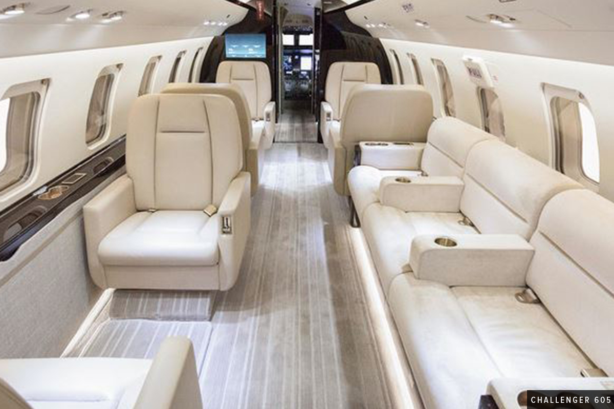 New Heavy Cabin - Challenger 605 Interior