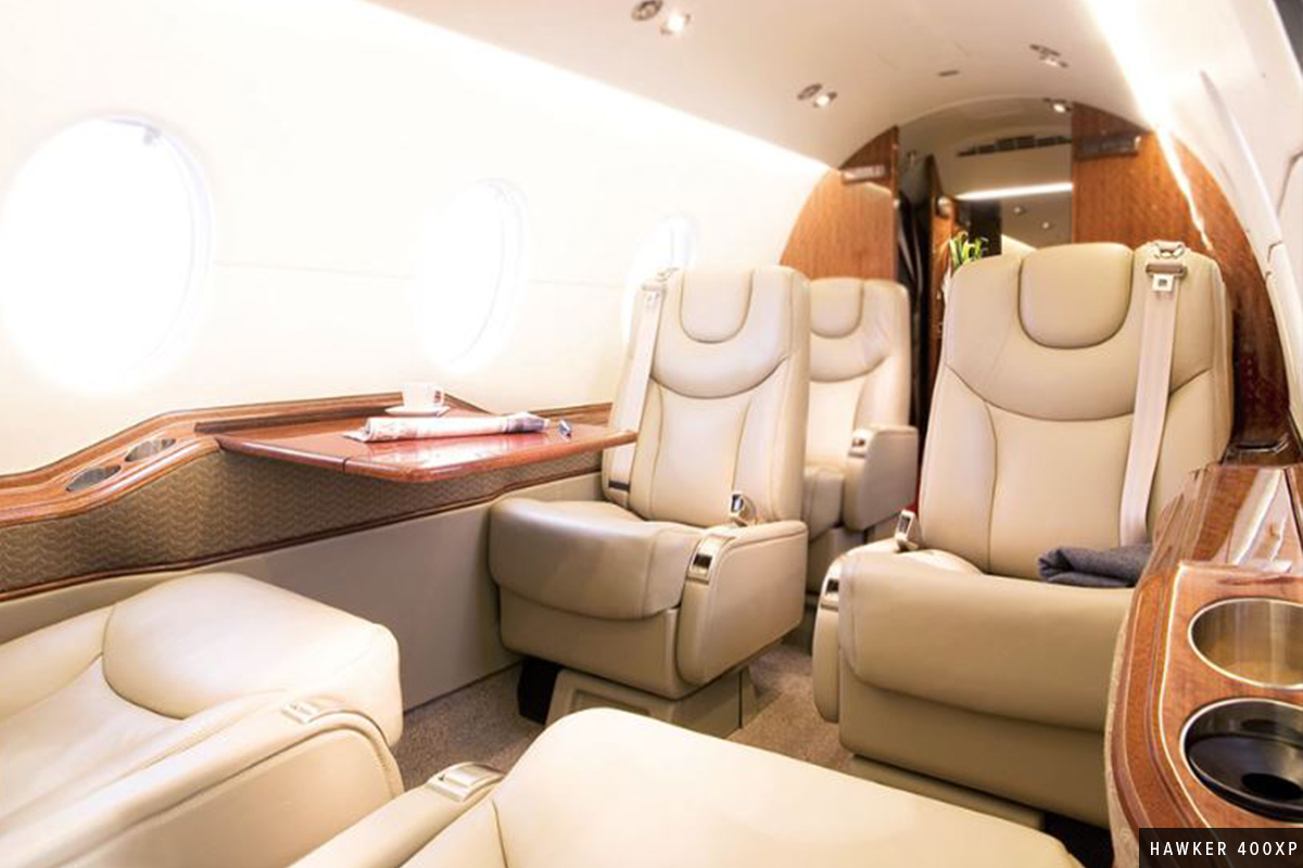 New Light Jet Hawker 400XP Interior