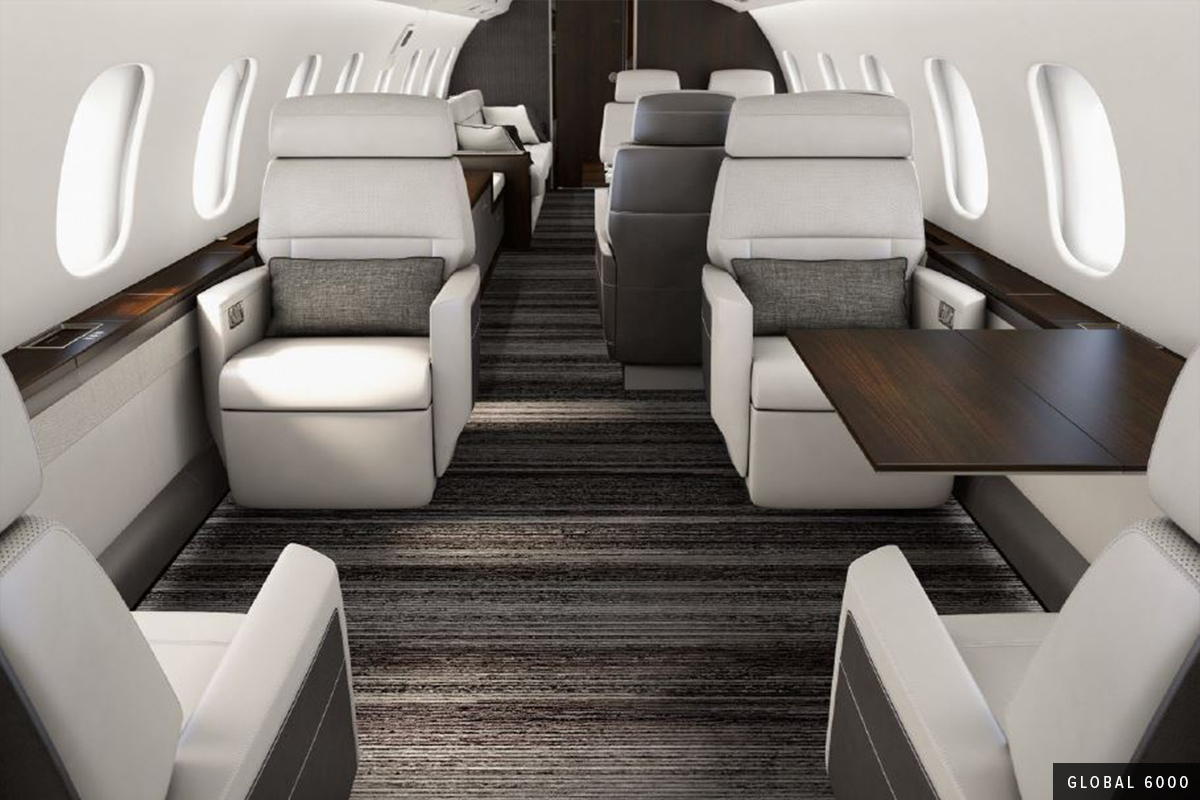 Heavy Cabin Global 6000 Interior