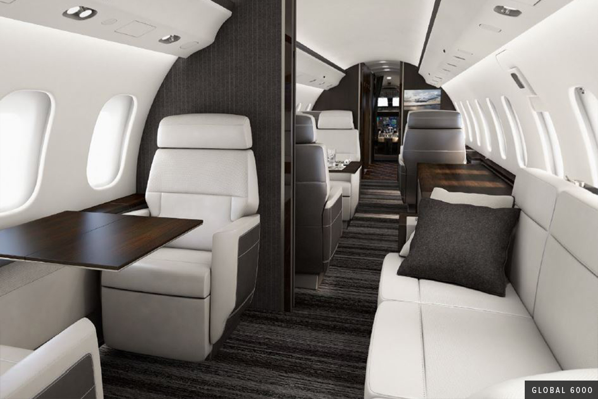 New Heavy Cabin Global 6000 Interior