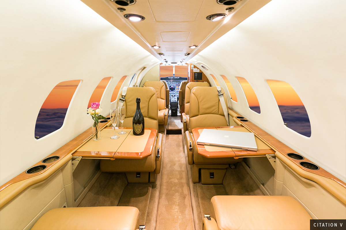 Light Jet Citation V Interior