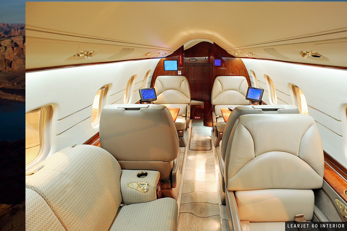 Midsize Jet - Learjet 60 Interior