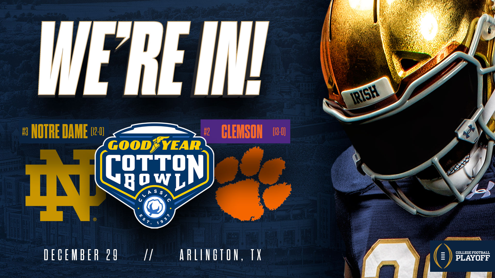 Notre Dame vs. Clemson | Cotton Bowl | College Football ...