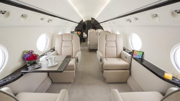 Interior of Private jet in Dallas