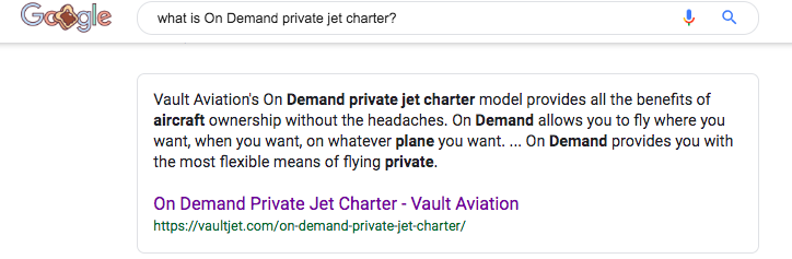 Definition of On Demand Private Jet Charter