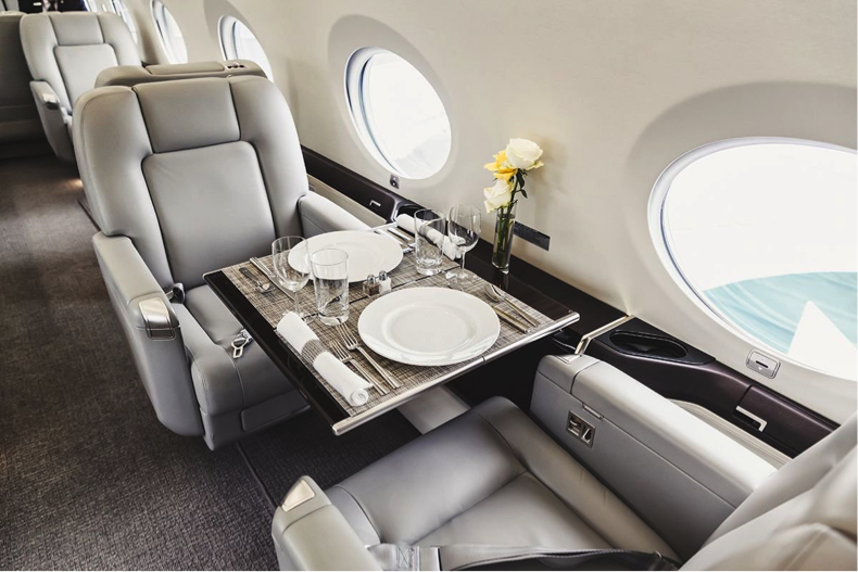 Interior of Luxury Private Jet