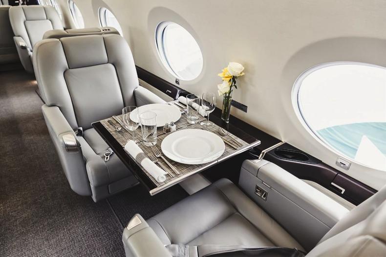 Interior of Luxury Private Jet