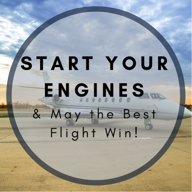 Start Your Engines Jet Charter Graphic