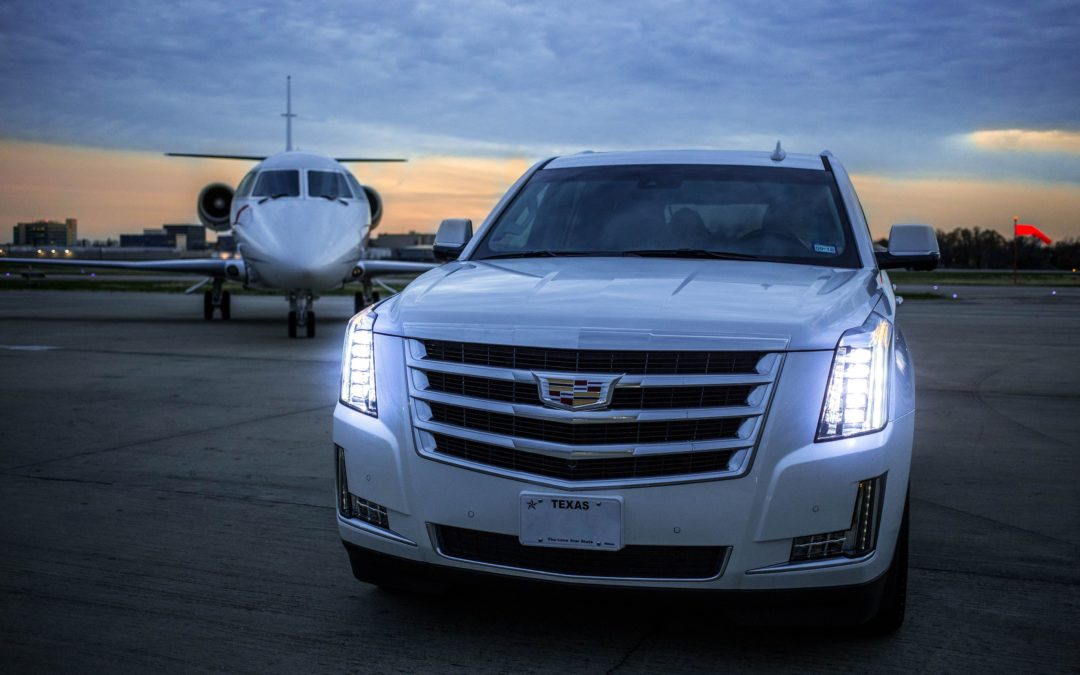 Private Jet Charter and Cadillac for a Business Trip