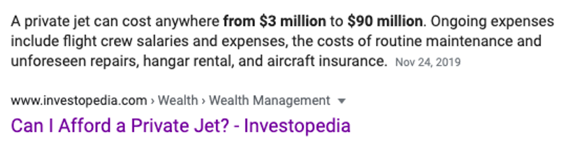 most expensive private jets cost