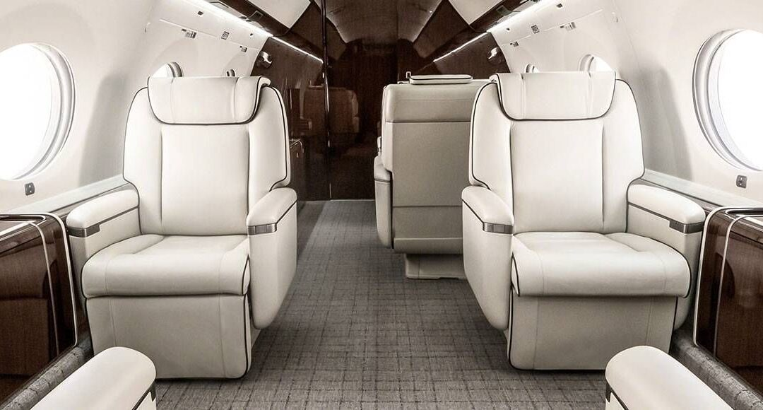 interior of new Private Jet
