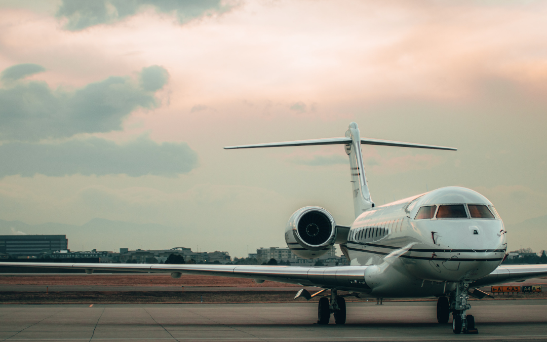 Private Jet Charter on a airport runway