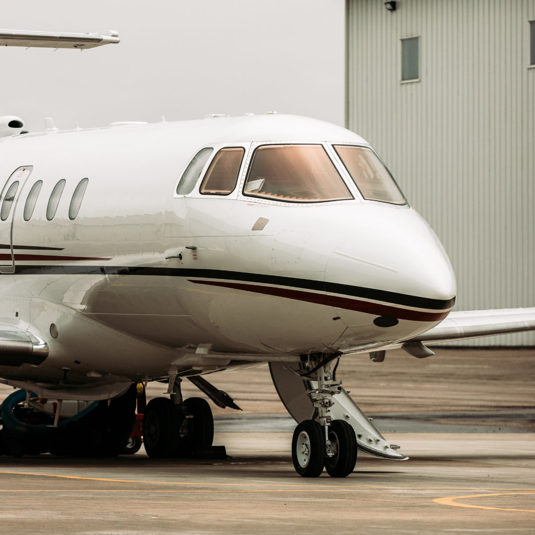 US Private Jet Charter on a runway