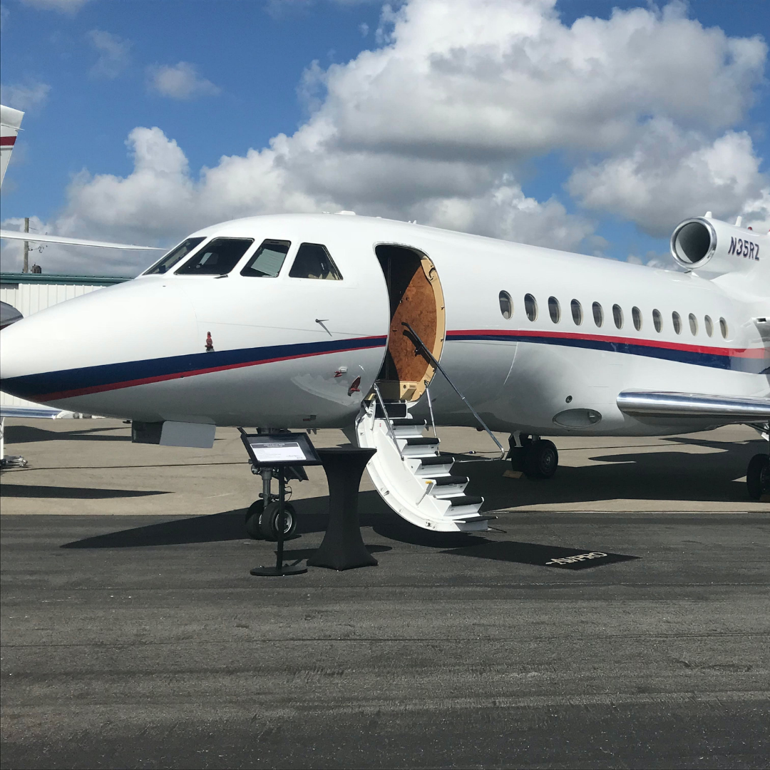 New Private Jet Charters on a runway