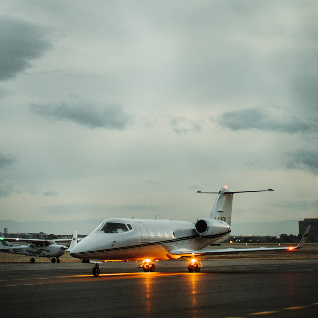 renting a Private Jet on a runway