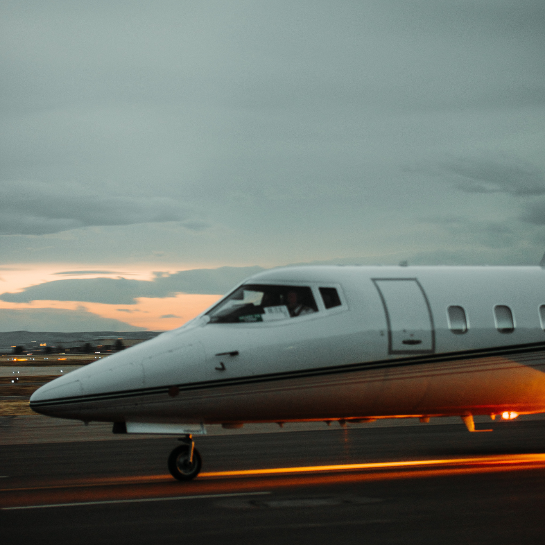 Vault private jet charter on the runway
